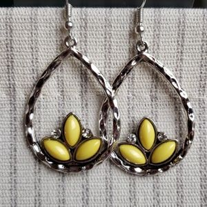 New Earrings Silver with Yellow